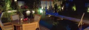 éclairages d'une terrasse